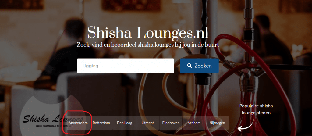 shisha lounges in Amsterdam